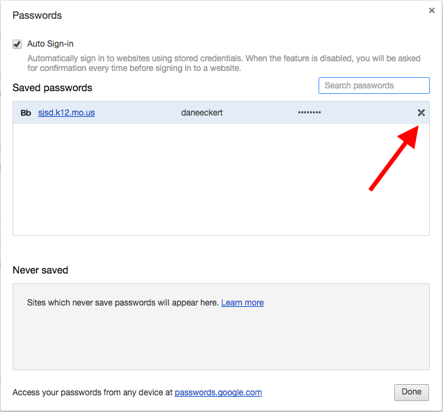 How to remove saved passwords in Chrome – Help Center